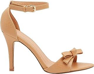 Shoexpress Mylo Women High Heel Sandals,41,Beige