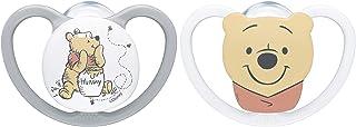 0-6 Monate 31 g kiefergerechte Form beige NUK 10175249 Disney Winnie Puuh Space Silikon-Schnuller grau /& wei/ß