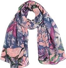 TIFENNY Winter Scarf for Women Ladies Snakeskin Print Chiffon Scarf Wrap Shawls Headband Soft Long Scarf