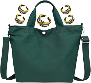 GGLZMMF GGLZMMF Frauen-Segeltuch Handtaschen Schulter-Kurier-Beutel Großes Tuch Taschen Fest Farbe Wein-Rot Blau Schwarz Lila Pink EIN Grün Green-OneSize