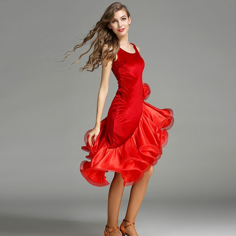 Modern Lady Big Pendulum Fashion Without Sleeves Modern Dance Dress Tango and Waltz Dancing Dress Dance Competition Skirt Latin Dress Dance Costumes