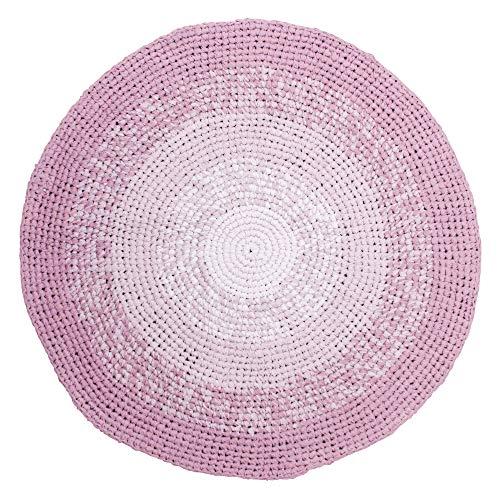 Sebra Teppich aus 100% Baumwolle Gradient Rose mit Farbverlauf, rund, Durchmesser 120 cm,...