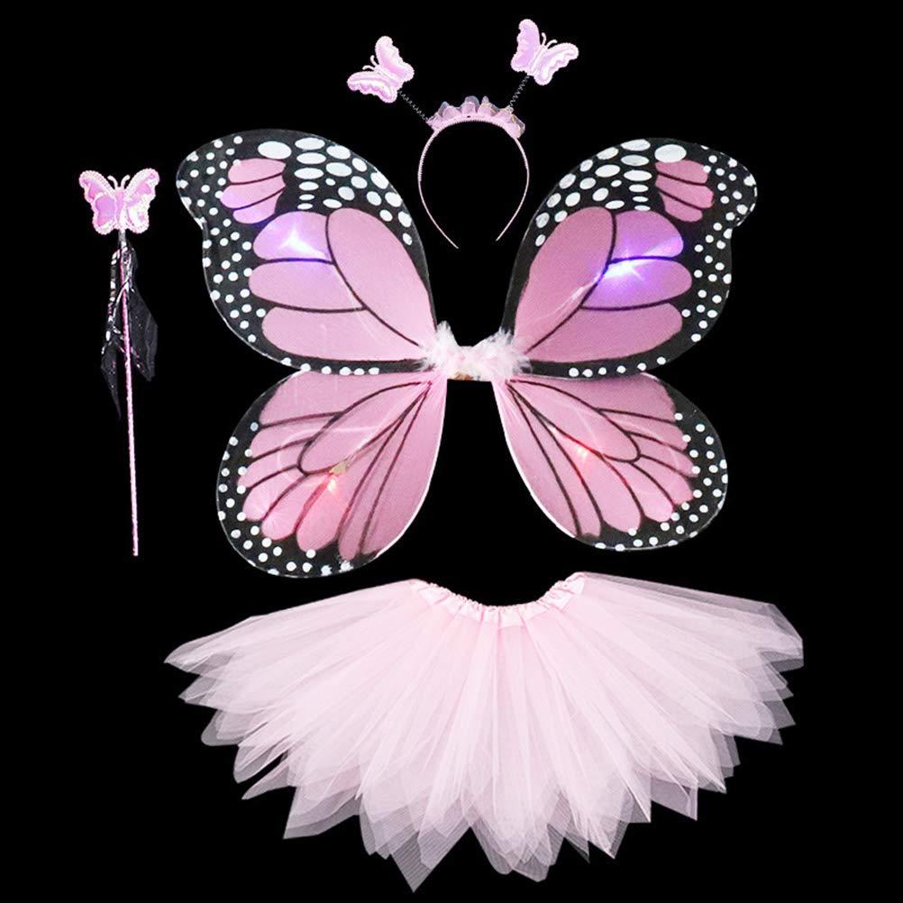 Daxoon Disfraz de Mariposa Girl Alas de ángel Disfraz de Mariposa ...