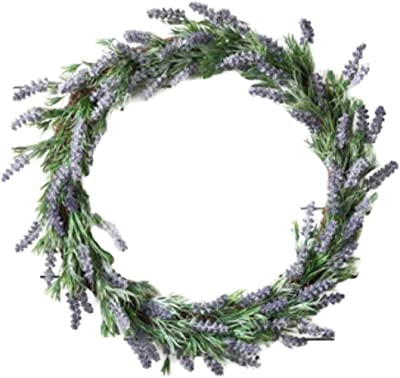 """Spring Lavender Blooms and Foliage Wreath 17"""""""