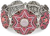 styleBREAKER Stern Form Gummizug Armband mit Perlen und Strass besetzten Amuletten, Boho Style, Damen 05040059, Farbe:Koralle
