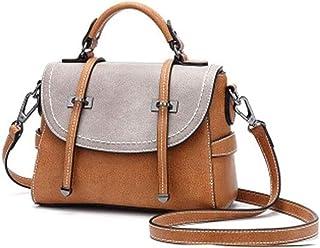 angelHJQ Multicolor Handtasche, Handtasche Frauen Umhängetasche Spleißen Kontrast Kleine Square Tasche Elegante Umhängetas...