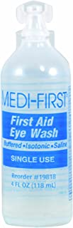 Medi-First Eyewash, Eye Rinse and Protection, First Aid Supplies, 4 Oz.