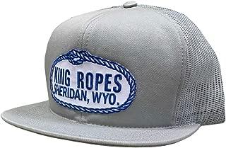 King Ropes Adjustable Snapback Trucker Hat (Grey/Grey)