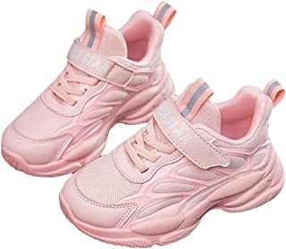 Hopscotch Girls 90% PU + 10% Synthetic/PU Fixed Lace Text Printed Athletic Shoes in Pink Color