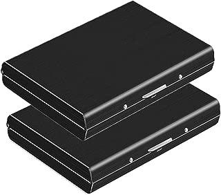 Dahsha Black Stainless Steel Credit Card Case For Men (Set Of 2)