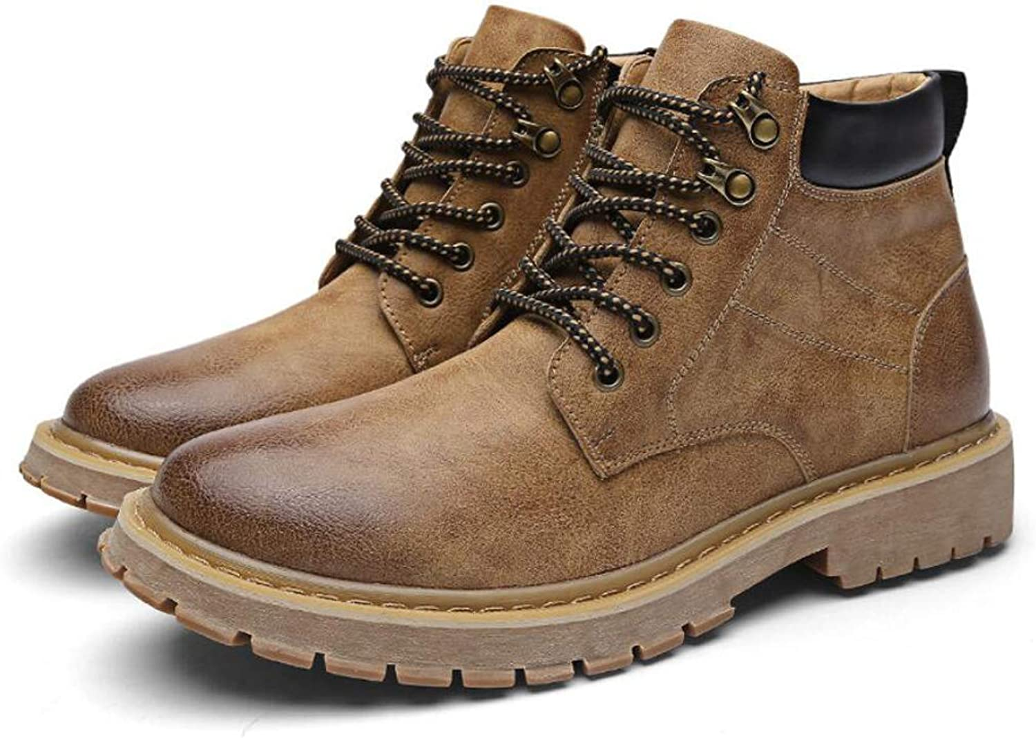 Zxcvb Outdoor Warm Retro High-top Martin Boots Men's Wear Hiking shoes Women's Classic Lace Up Round Toe Martin Boots Teens Girls Warm Short Boots