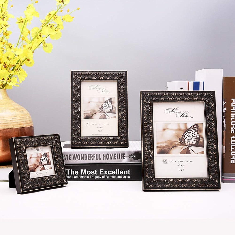 mejor calidad Dhrfyktu Marco de de de Fotos de Madera Vintage Marcos para Fotos de Boda (Color   Negro, Talla   4  6)  venta caliente