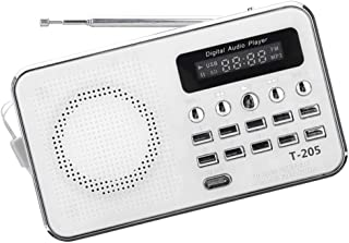 OSALADI Portable Radio AM/FM with Antenna Transistor Analog Radio Battery Operated Audio Home Sound Loudspeaker for Outdoor Travel