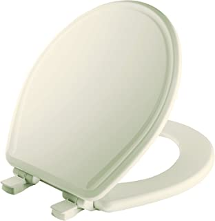 MAYFAIR 848SLOW 346 Toilet Seat will Slow Close, Never Loosen and Easily Remove, ROUND, Durable Enameled Wood, Biscuit/Linen
