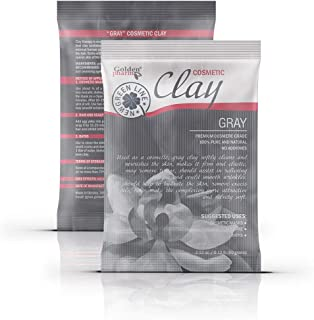 White Kaolin Clay Powder for Face and Body with Natural Additives (1 pack, gray (with brown kelp))