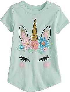 Little Girls' Toddler 2T-5T Pretty Unicorn Tee