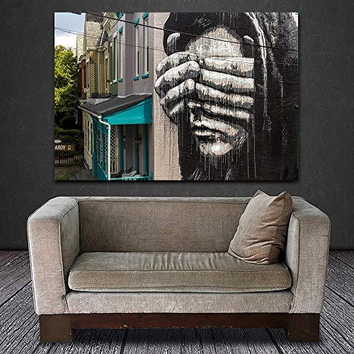 Flduod Abstraktes Ölgemälde für Hauptdekorationszeichnung Graffiti Moderne Artbenches Wandbild Leinwand HD-40x60cm