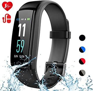 Mgaolo Fitness Tracker, Activity Health Tracker Waterproof Smart Watch Wristband with Blood Pressure Heart Rate Sleep Monitor Pedometer Step Calorie Counter for Android and iPhone