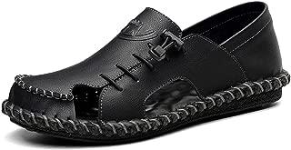 2019 Summer Hollow Out Beach Sandals Men Genuine Leather Shoes Non-Slip Men's Sandals 38~44