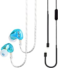 BASN Tempos Pro Ear Monitor Headphone with Dual Driver 2 Pin Connector Basic Cable and Headset Replacment Cable Universal Earphone for On Stage and Road