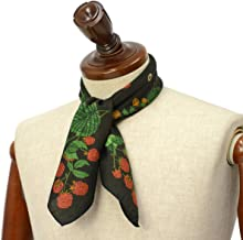 [Fumagalli 【フマガリ/フマガッリ】]スカーフ/ネッカチーフ GARDA 600 2 コットン シルク 蝶々 ブラック