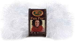 Lion Brand Yarn 320-100 Fun Fur Yarn, White