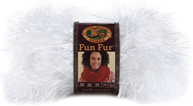 Lion Brand Yarn 320-100 Fun Fur Yarn, White
