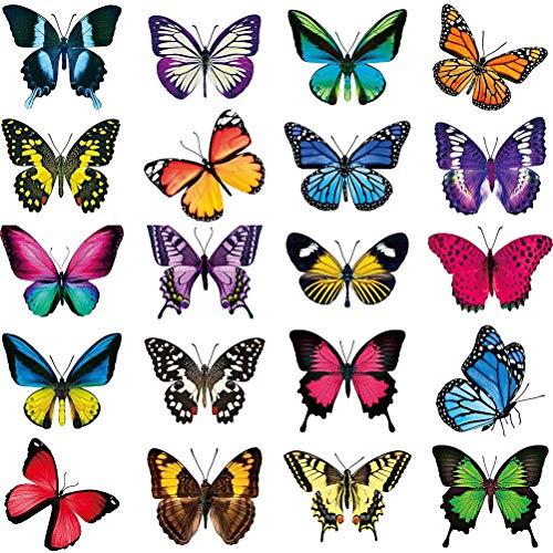 Hahepo Pegatina de mariposa para ventana, anticolisión, para evitar los golpes de los pájaros en el cristal, reutilizable