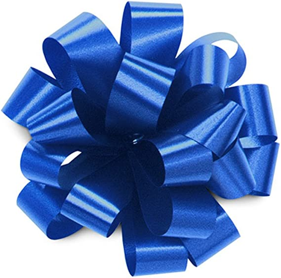 Pack of 10 Navy Blue 30mm Waterproof Poly Pull Bow