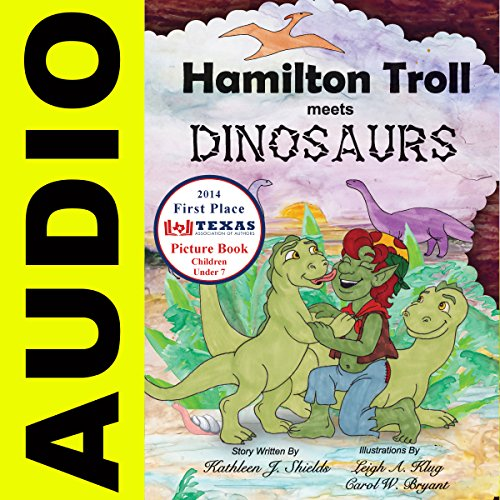 Hamilton Troll Meets Dinosaurs audiobook cover art