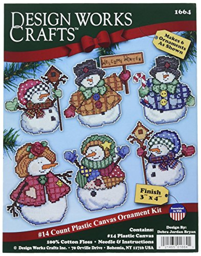 Design Works Crafts Welcome Winter Cross Stitch Ornament Kit, 4'
