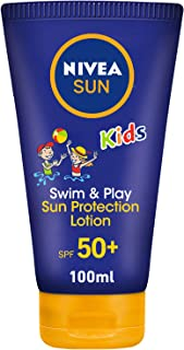 NIVEA, Sun, Lotion, Kids Swim & Play, Very High SPF50+, 100ml