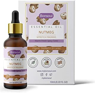 BONSOUL Pure and Organic Srilankan Nutmeg Essential Oil (10 ML)