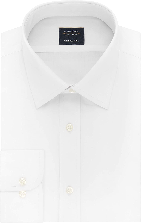 Popular product Arrow 1851 Ranking TOP1 Men's Dress Shirt Regular Poplin Fitte Available in