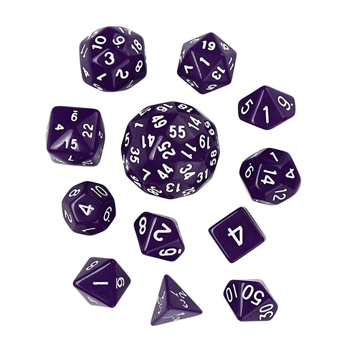 lotus.flower Game Dice, 12PCs Durable Resin Polyhedral Dice Set - Fun Role Playing Gaming Props for Dungeons and Dragons RPG MTG Table Games