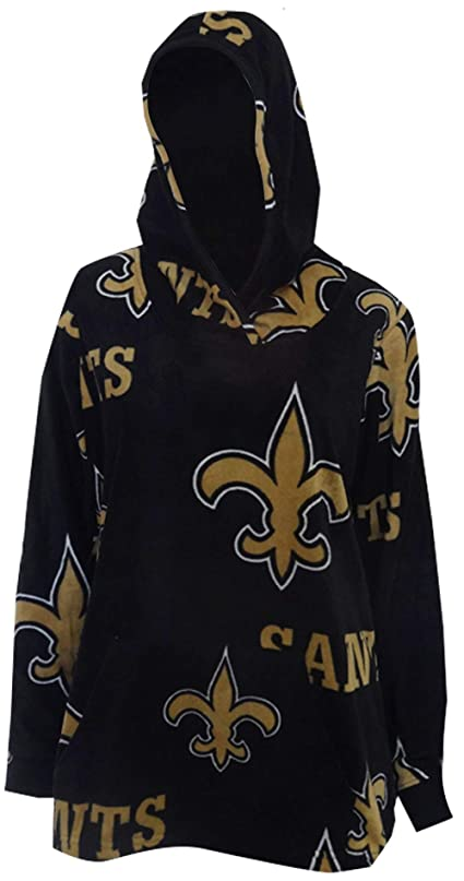 遅らせるテンポ昇るWomen's New Orleans Saints Fleece Pullover Hoodie for Women