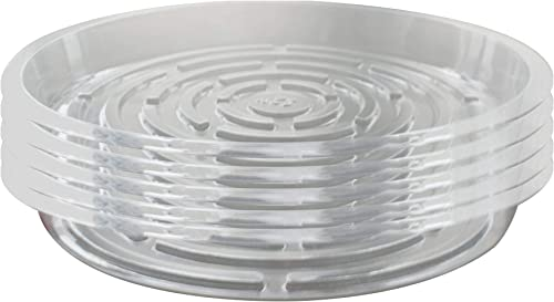 high quality labworkauto 5 lowest Pieces of Clear Thick online sale Plastic Heavy Duty Sturdy Plant Saucer Drip Trays Fit for pots outlet sale