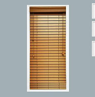 TailorView, Custom Made 2 Inch Faux Wood Horizontal Window Blind, Oak, Inside Mount, Inner Window Size: 20