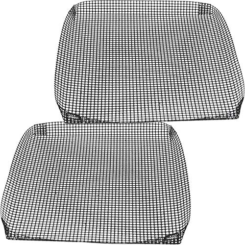 Reusable Nonstick Bbq Grilling Basket, Mesh Sheets for Grilling, Toaster Ovens and Campfire Cooking Accessories, by Exultimate (Black, 9- x 9.5- in, Set of 2)