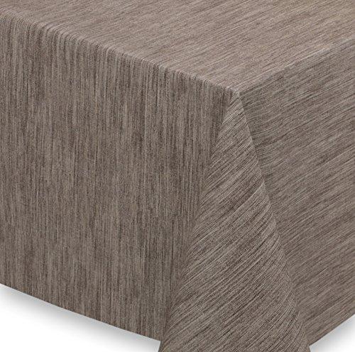 WACHSTUCH Tischdecken Meterware abwischbar LFBG, Reliefdruck Georginias Braun, Größe wählbar (100x140 cm)