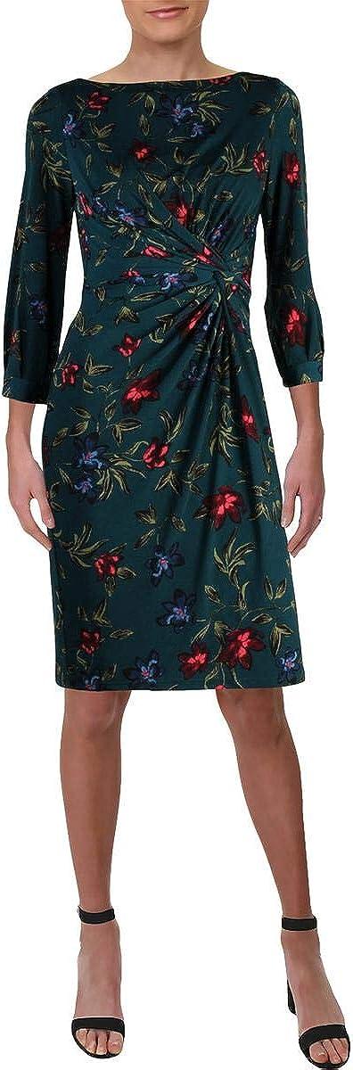 Lauren by Ralph Lauren Women's Floral-Print Knotted Dresss