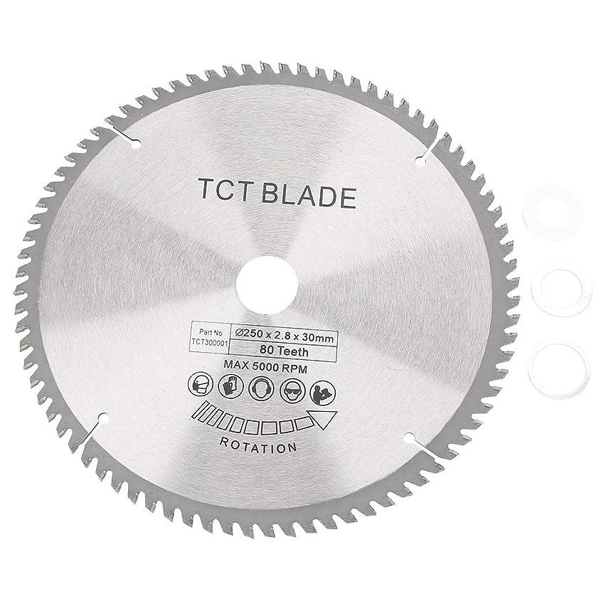 偽物出くわす雄弁家円形切断鋸 80T歯TCT丸鋸刃木質超硬切断ブレードディスク切削工具ボア径30mm
