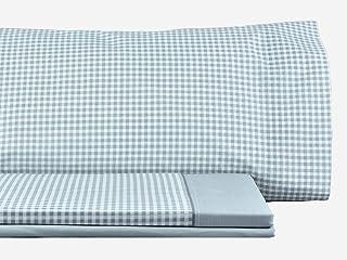 Mi Casa Set of Grenove Bedding Set, Cotton, Grey, 135 cm Bed