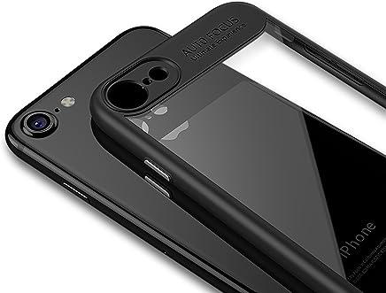 c5d7cf02e54 LAYJOY Funda iPhone 8, Funda iPhone 7, Carcasa Ligera Bumper Silicona Suave  Negro TPU