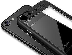 LAYJOY Funda iPhone SE 2020, iPhone 8, Funda iPhone 7, Carcasa Ligera Bumper Silicona Suave Negro TPU y Transparente Duro PC Case Anti-Arañazos, Anti-Golpes Caso Cover (4.7 Pulgadas)