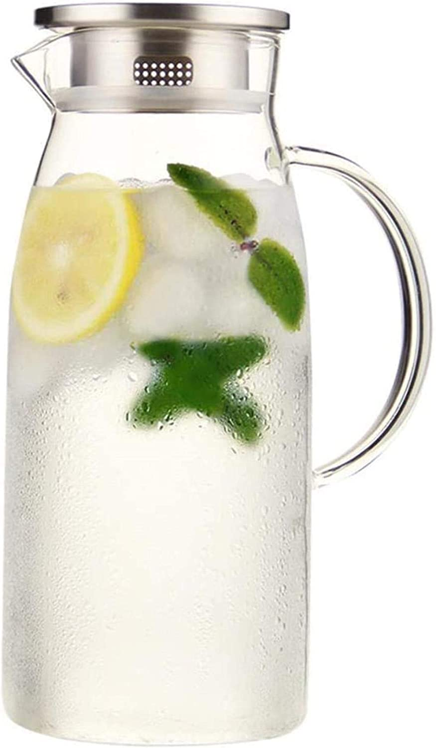 CHAIODENGZI Water Jug Ranking TOP19 Glass Pitcher With Bor Iced Raleigh Mall Lid And Handle