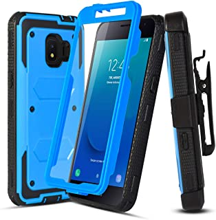 Case for Samsung Galaxy J2,Galaxy J2 Core Case/Galaxy J2 Dash/J2 Pure/J260/J2 Shine,[Buit-in Screen Protector][Shockproof],w HD Screen Protector,Hybrid Heavy Duty Case with Swivel Belt Clip-Blue