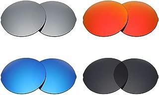 MRY 4pares polarizadas Lentes de repuesto para Oakley Madman sunglasses-stealth Negro/Fire Rojo/Ice Blue/plateado titanio