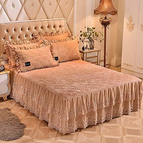 Fleece 160X200cm Bed Skirt Super Soft Warm Red Blue Bedding Set Bed Cover Bed Cover Kussenset Kussenset