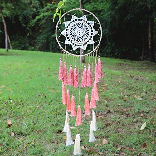 LOMOCRAFT Dream Catcher ~ Handmade Traditional tassel Wall Hanging Home Decoration Decor Ornament Craft (White)